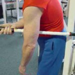 Biceps - Anchor at belt-line; Bend forward as desired.